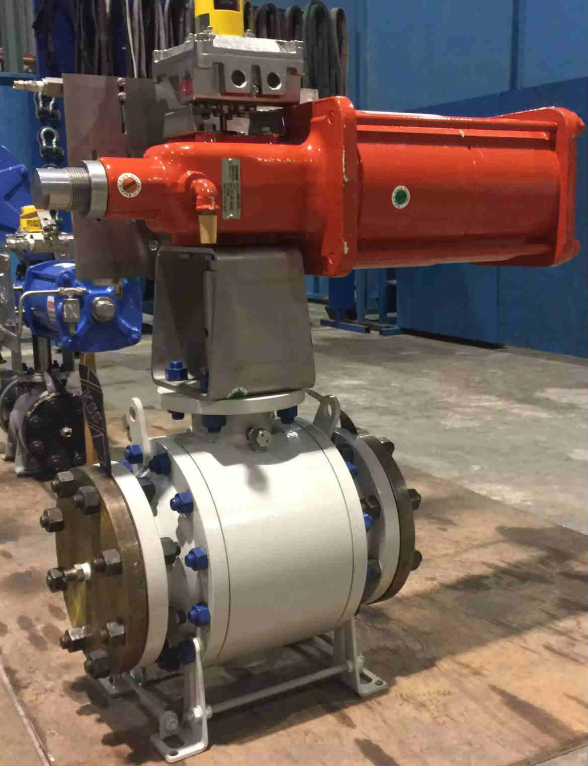 Pneumatic Actuated Ball Valve, Flanged