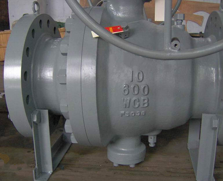 Trunnion Ball Valve, A216 WCB, Piggable, 10 Inch