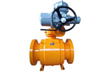 Trunnion Ball Valve, Motor Actuated